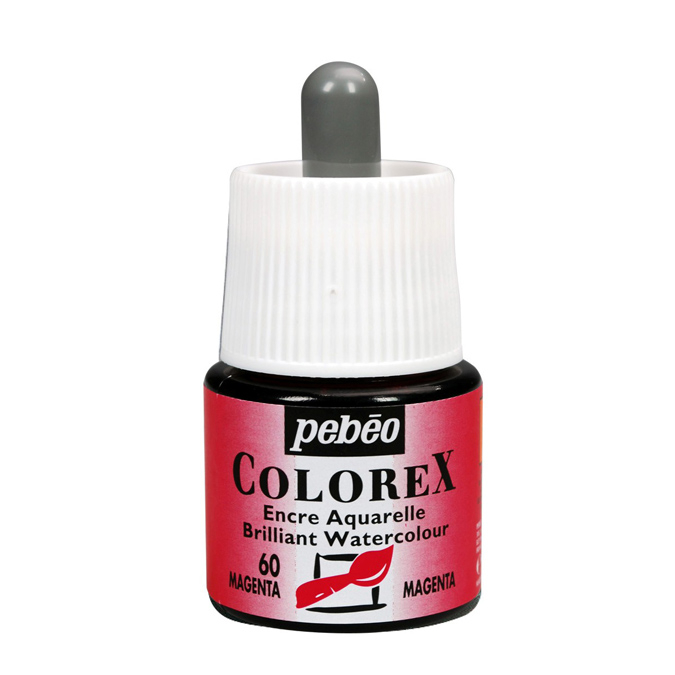 Encre aquarelle Colorex 45ml 61 - Noir trichrome