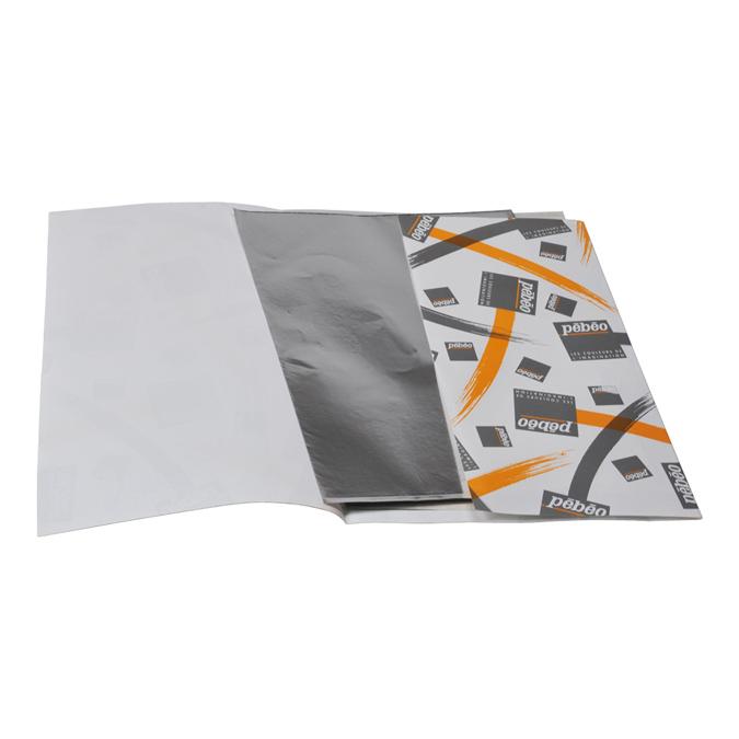 Métal à repousser 220 x 163 mm pochette de 10 feuilles argent