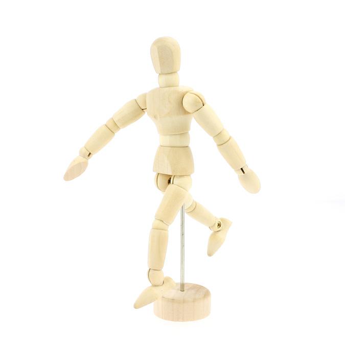 Mannequin en bois homme 12cm