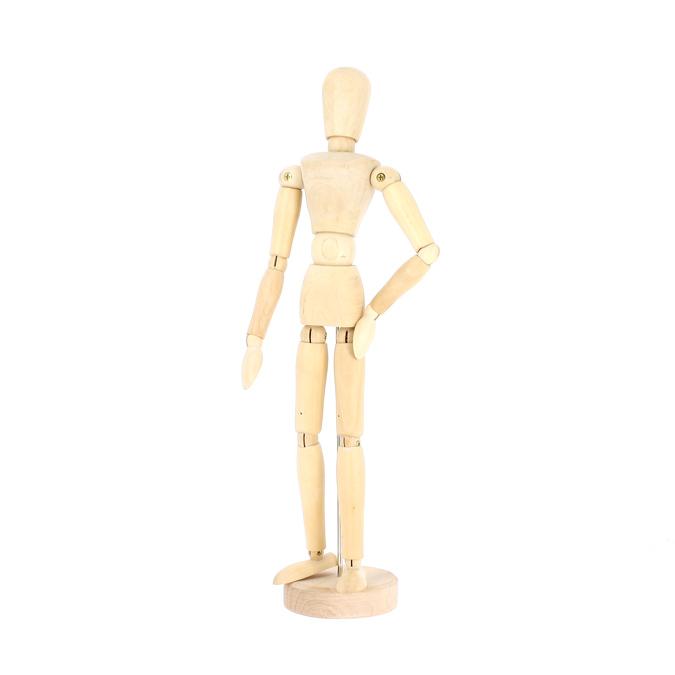 Mannequin en bois vernis femme 30cm