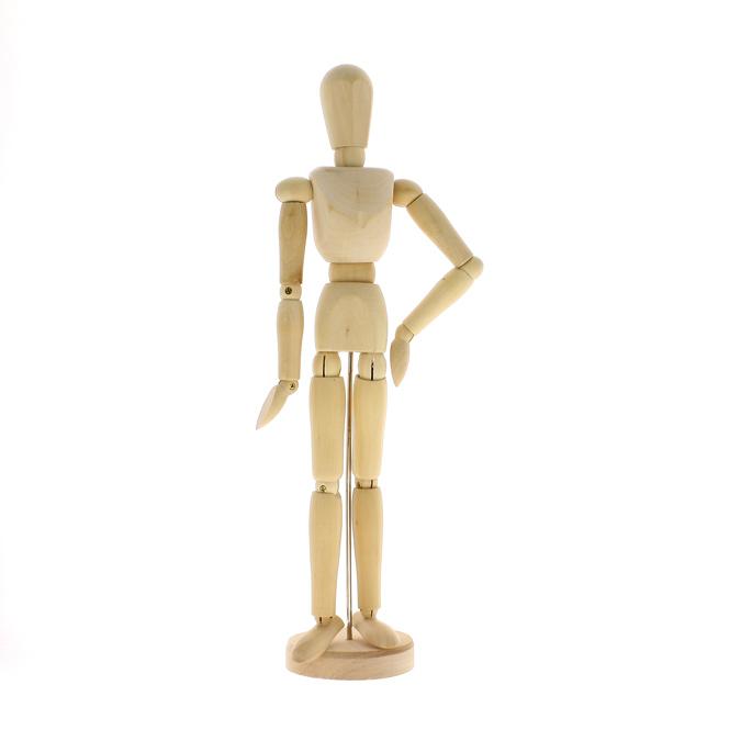 Mannequin en bois vernis homme 30cm