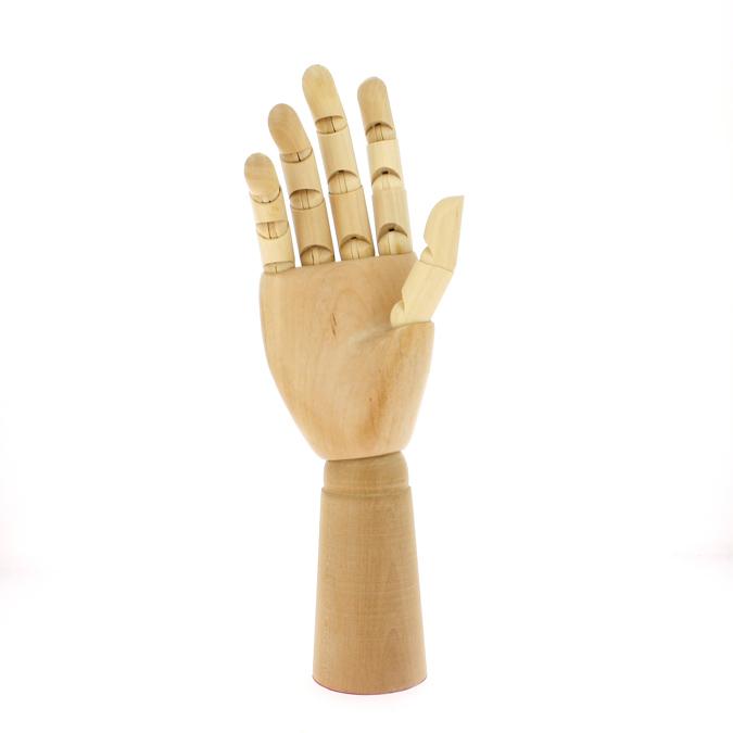 Mannequin en bois Main droite homme 30cm