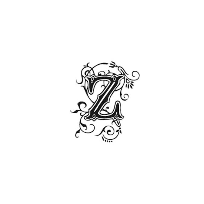 Tampon Bois Alphabet Arabesque lettre Z, 2,8 x 2,8 x 2,8 cm