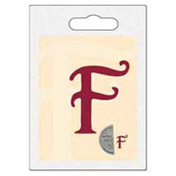 Cachet double initiale F
