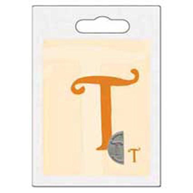 Cachet double initiale T