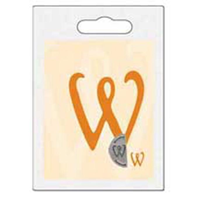 Cachet double initiale W