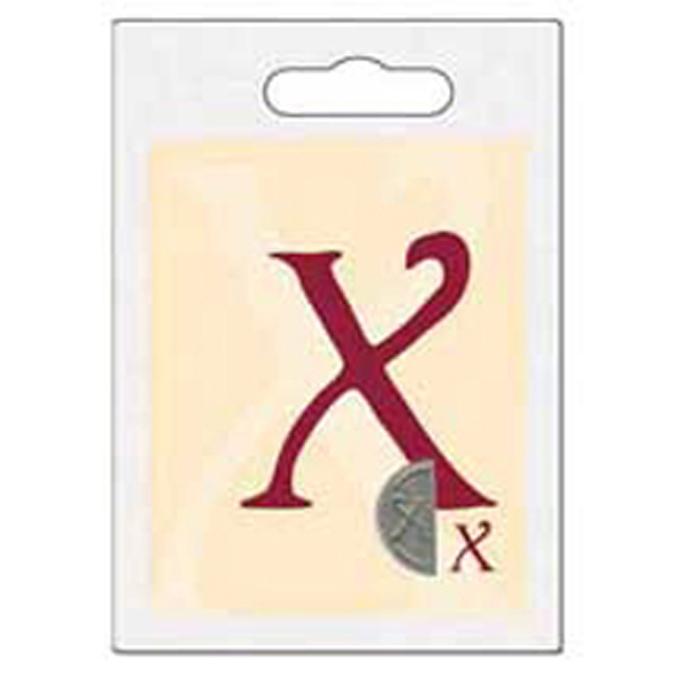 Cachet double initiale X