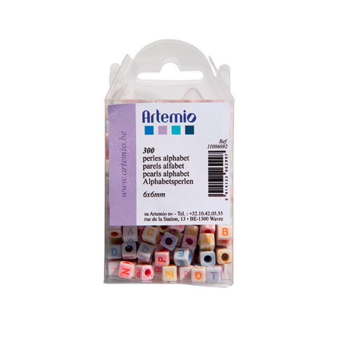 Perles alphabet Artemio 6 x 6mm