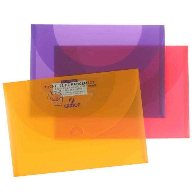 Pochette de rangement 34 x 47cm 500 mandarine cassis et framboise