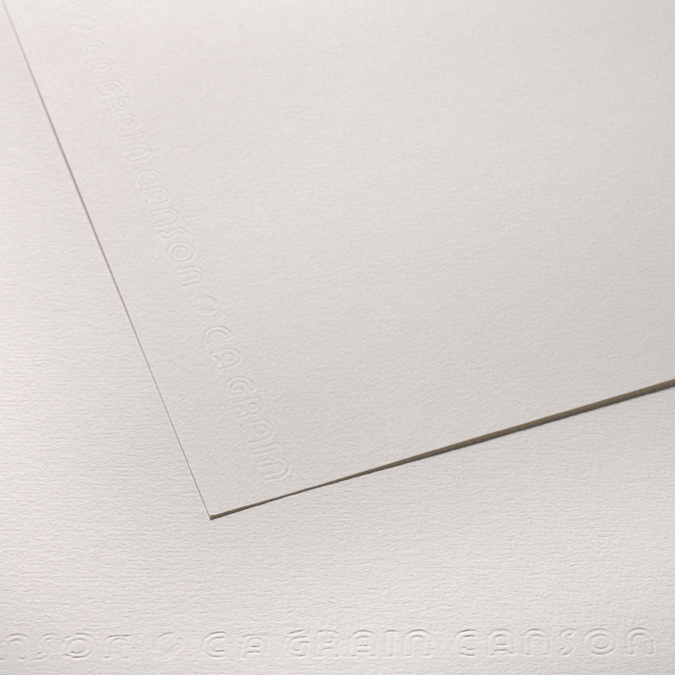 Canson C à GRAIN, Grain Fin, 224g/m², feuille