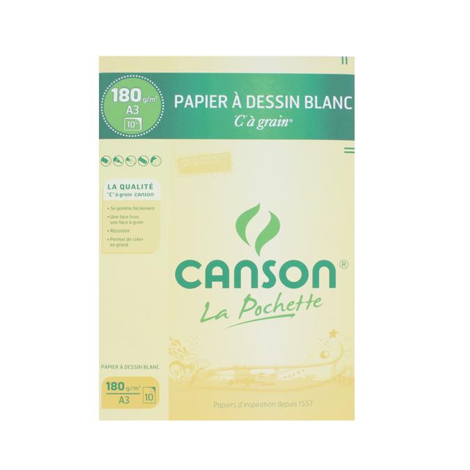 Canson C à GRAIN, Grain Fin 180g/m², pochette