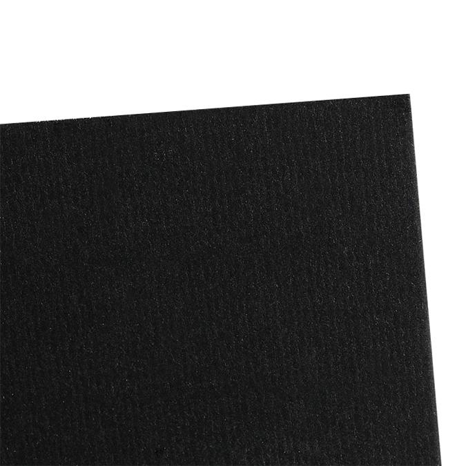 Contrecollé Ingres Vidalon Vergé 60 x 80 cm ep.1,5 mm Noir