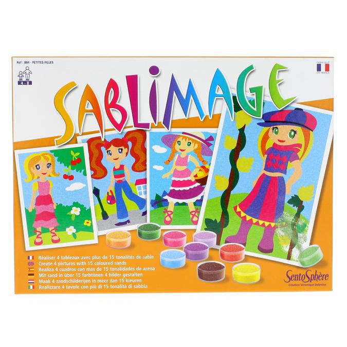 Tableau en sable Sablimage Petites filles
