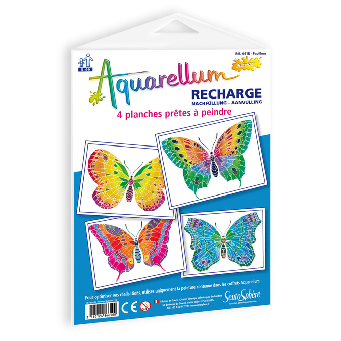 Recharge pour Aquarellum junior papillons