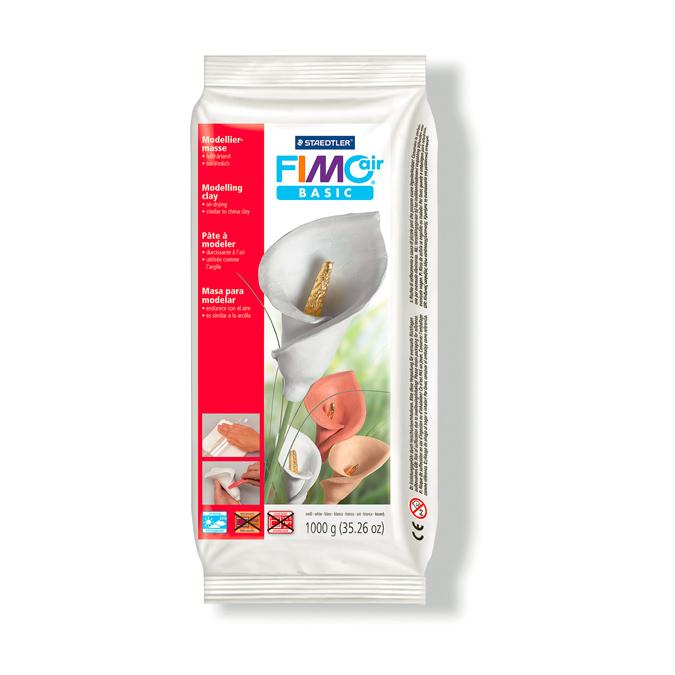 Pâte à modeler Fimo air Basic 1kg Blanc