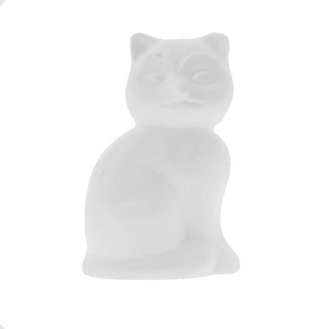 Objet en polystyrène chat 13cm
