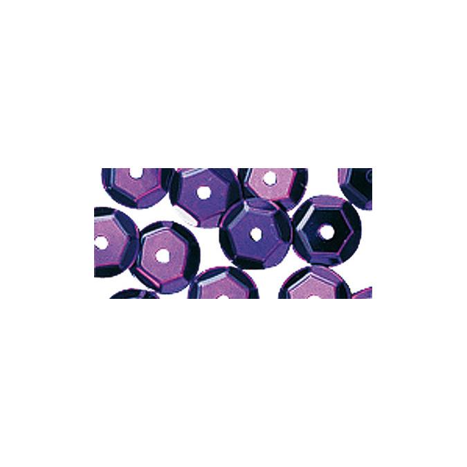 Sequins bombés 6mm sachet de 4000 lilas foncé