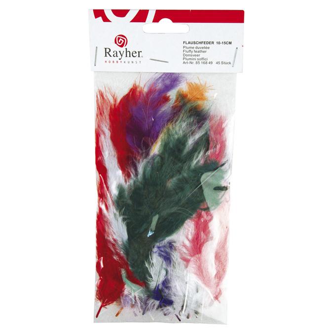 Plume duvetée 10-15cm set de 45 couleurs assorties