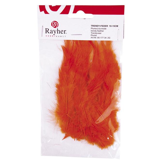 Plume duvetée 10-15cm orange
