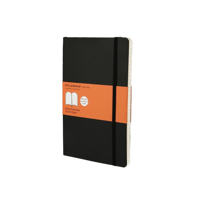 Carnet de notes Moleskine souple Ligné 13 X 21 noir