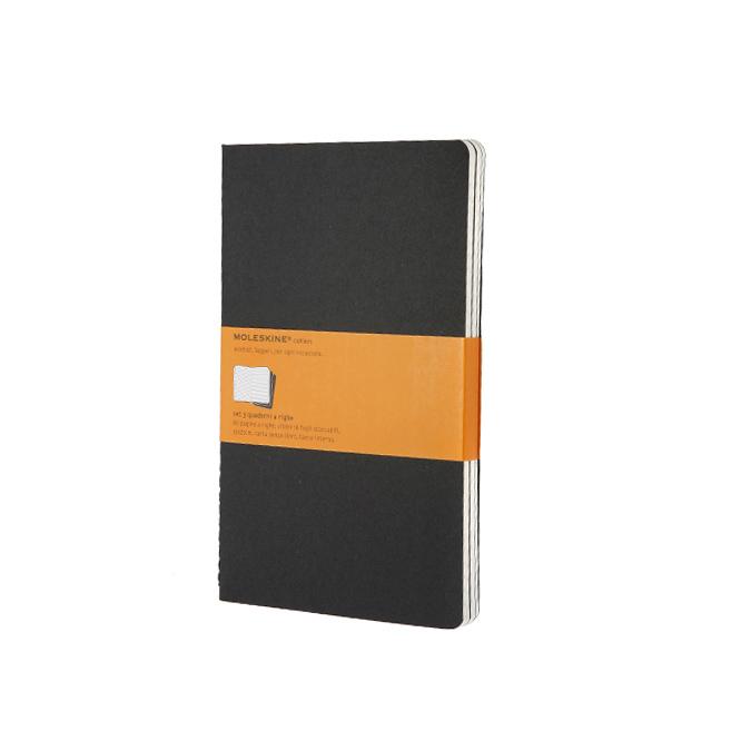 Set de 3 carnets de notes Moleskine Ligné 13 X 21 noir