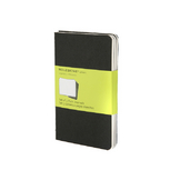 Set de 3 carnets de notes Moleskine pages blanches 9 X 14 noir