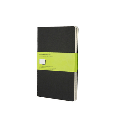 Set de 3 carnets de notes Moleskine pages blanches 13 X 21 noir