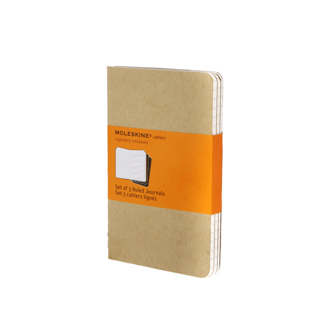 Set de 3 carnets de notes Moleskine Ligné 9 X 14 kraft