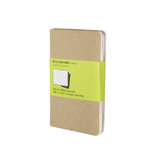 Set de 3 carnets de notes Moleskine pages blanches 9 X 14 kraft