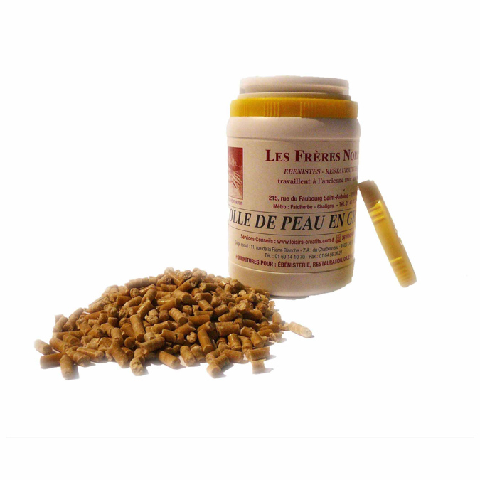 Colle de peau de lapin en grain 250ml