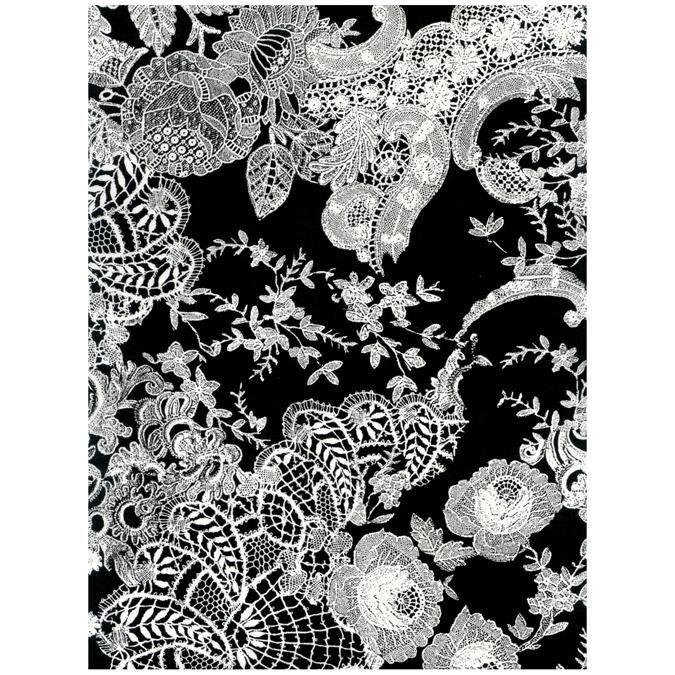 Papier Décopatch 30 x 40cm 435 noir blanc