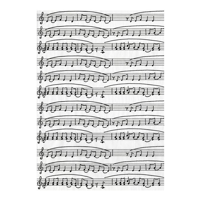 Papier Décopatch 30 x 40cm 468 partition musique