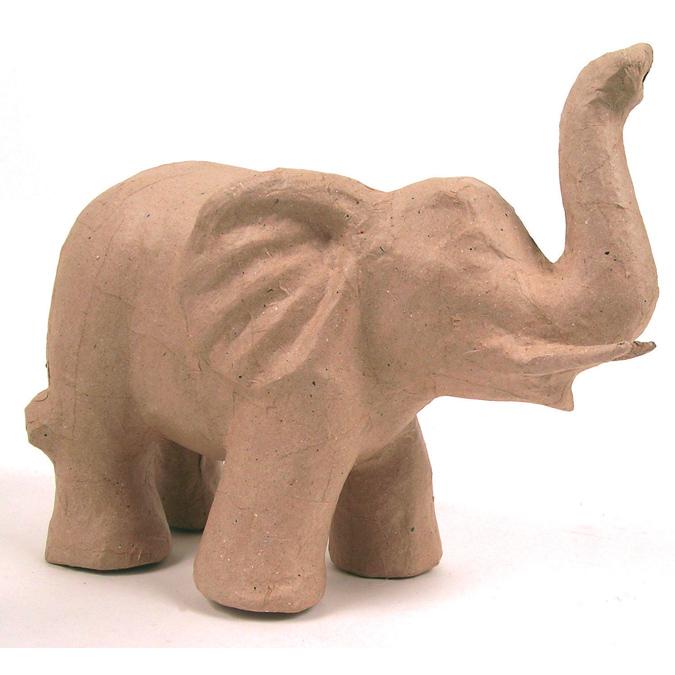 Objet en papier mâché éléphant mat