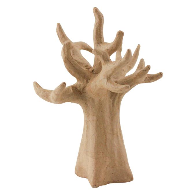 Objet en papier mâché arbre 20cm