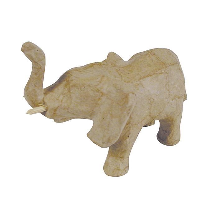 Objet en papier mâché petit éléphant