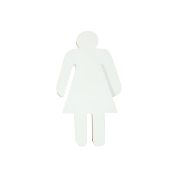 Objet en papier mâché silhouette femme