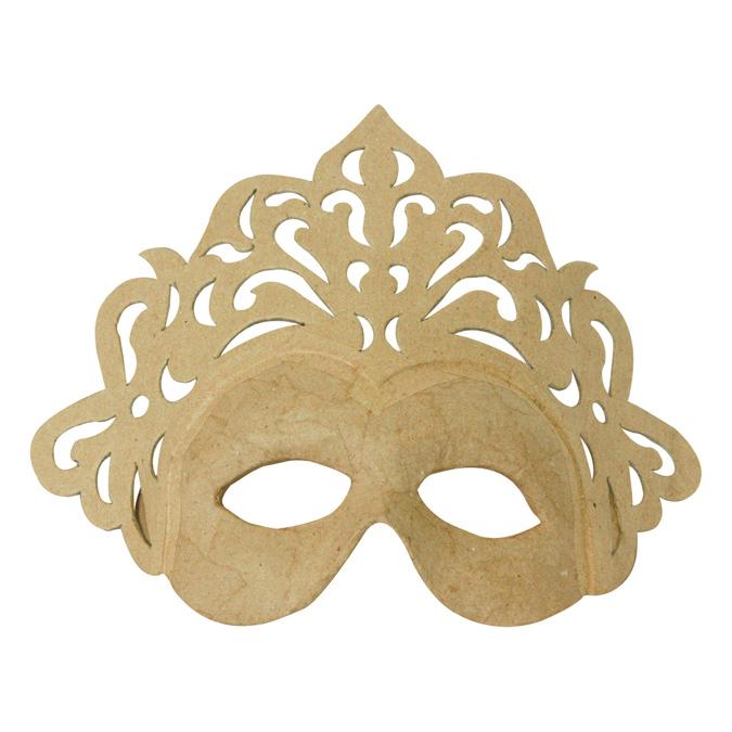 Masque de princesse en papier mâché