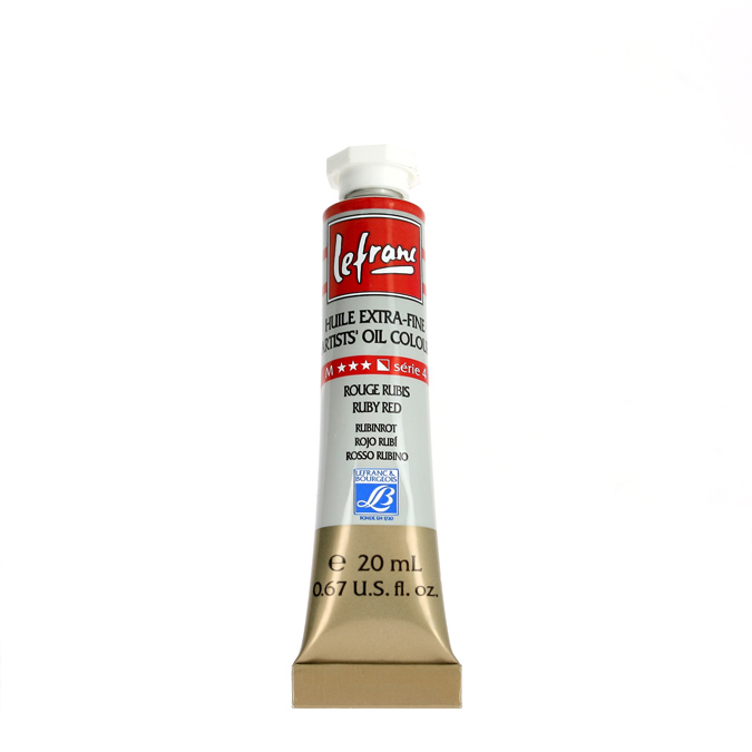 Peinture à l'huile extra-fine Lefranc en tube de 20ml 49 - Bleu Touareg