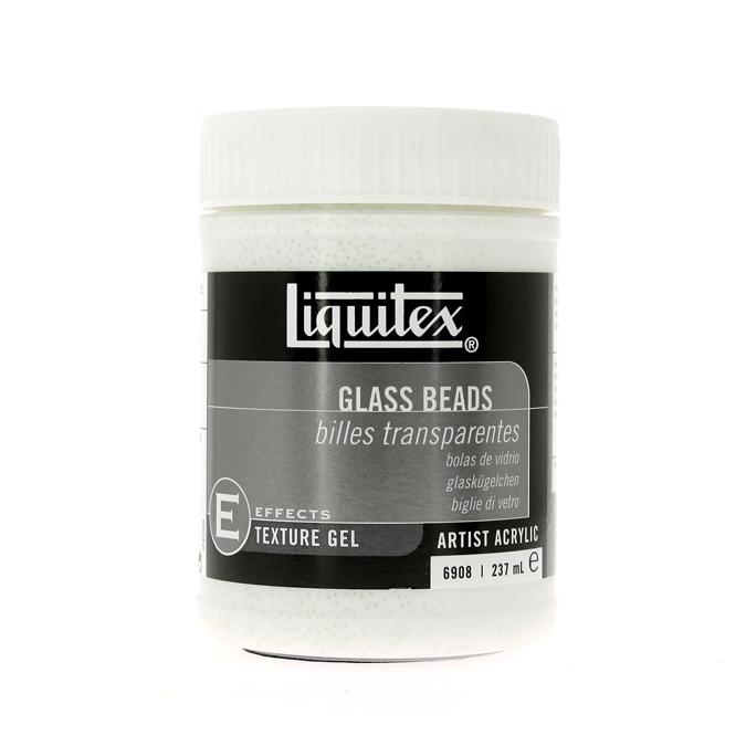 Medium-gel de texture pour acrylique 237ml bille de verre