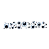 Yeux mobiles ronds set de 10 14mm