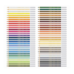 Crayon de couleur pastel aquarellable CarbOthello