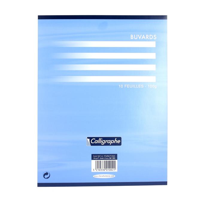 Papier buvard 16 x 21cm pochette de 10 feuilles