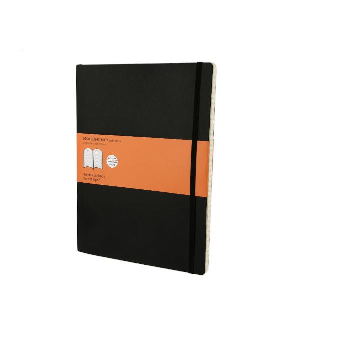 Carnet de notes Moleskine ligné 19 X 25 noir