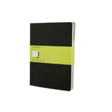 Set de 3 carnet de notes Moleskine pages blanches 19 X 25 noir