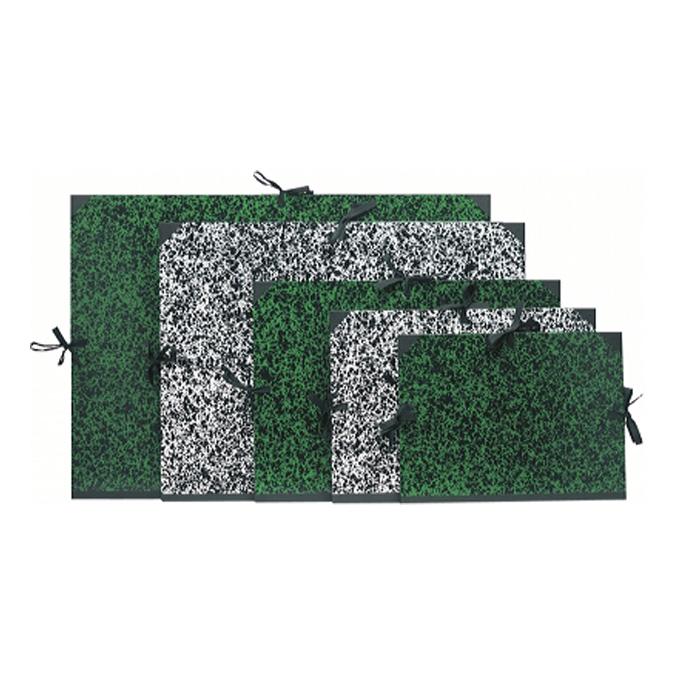Carton à dessin Annonay vert à cordons A4 26 x 33cm