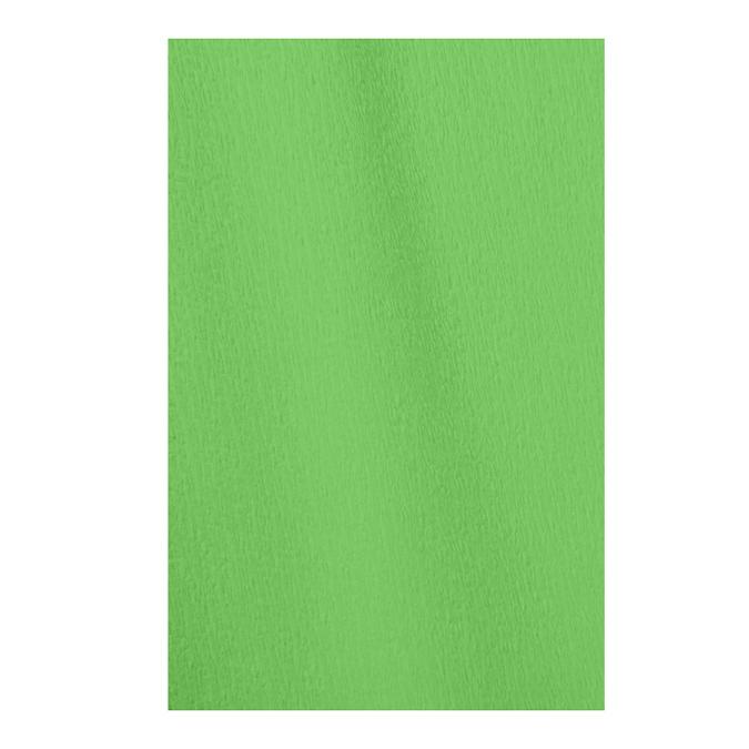 Papier crépon en rouleau 60% 2.50 x 0.50m vert franc