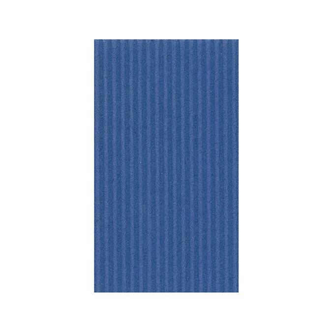 Carton ondulé 50 x 70cm 230g bleu