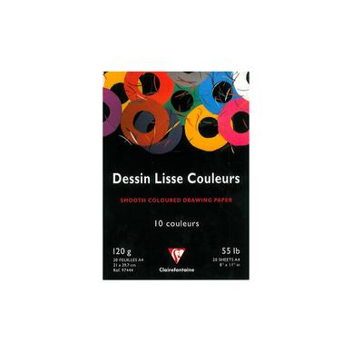 papier cr atif 120g a4 bloc de 20 feuilles 10 teintes clairefontaine chez rougier pl. Black Bedroom Furniture Sets. Home Design Ideas