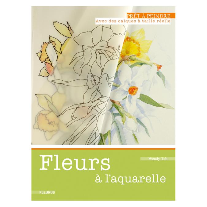 Fleurs à l'aquarelle - Prêt à peindre
