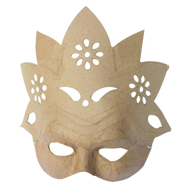 Masque fleur en papier mâché